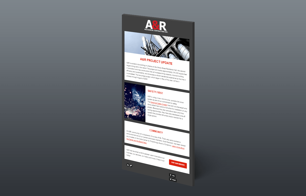 A&R Mechanical Website Design