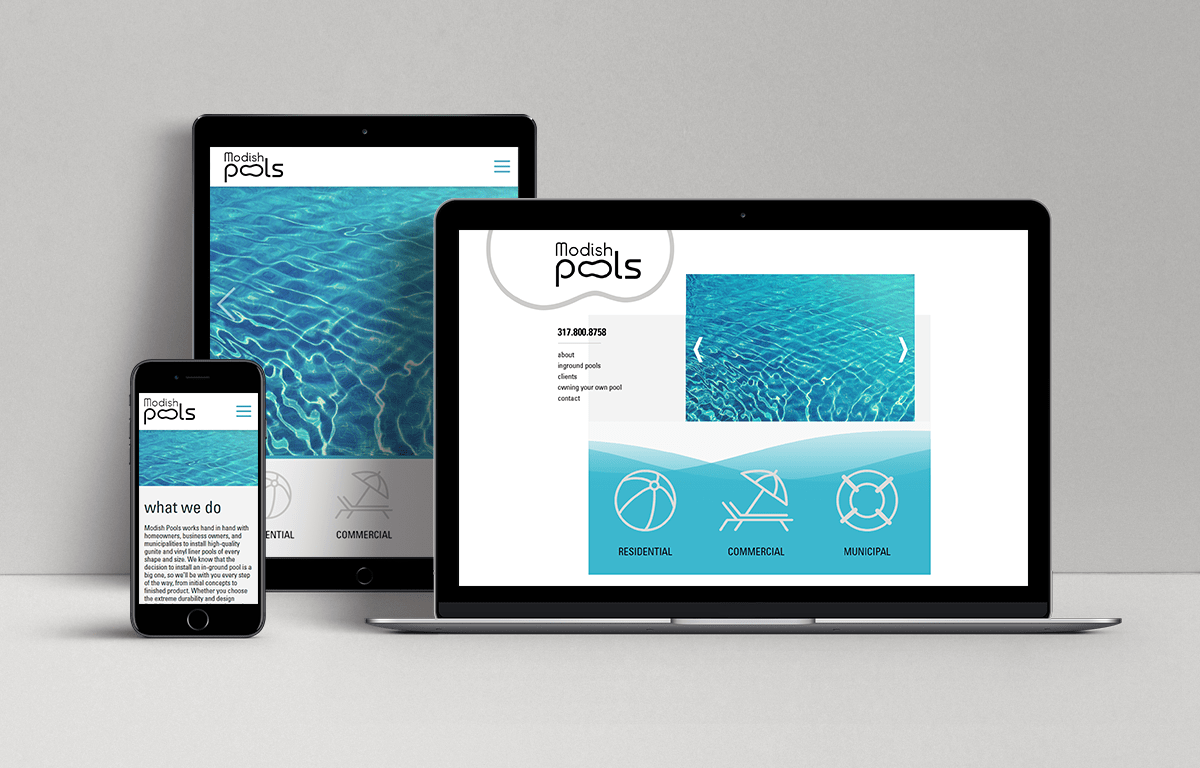 Modish Pools Web Design